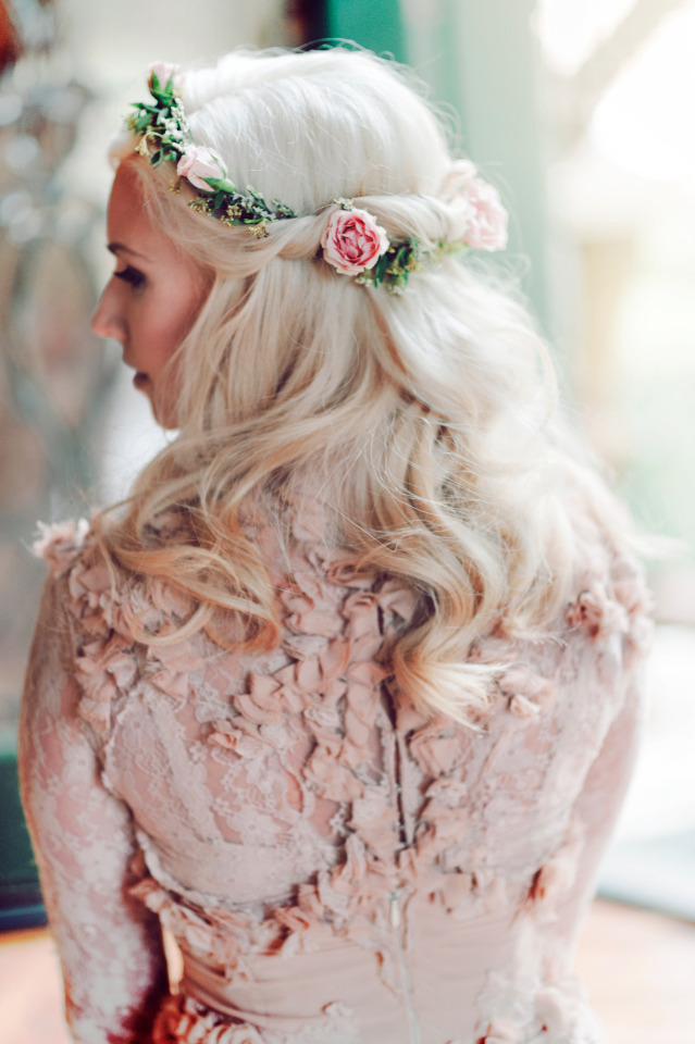 flower crown for bridesmaid hair