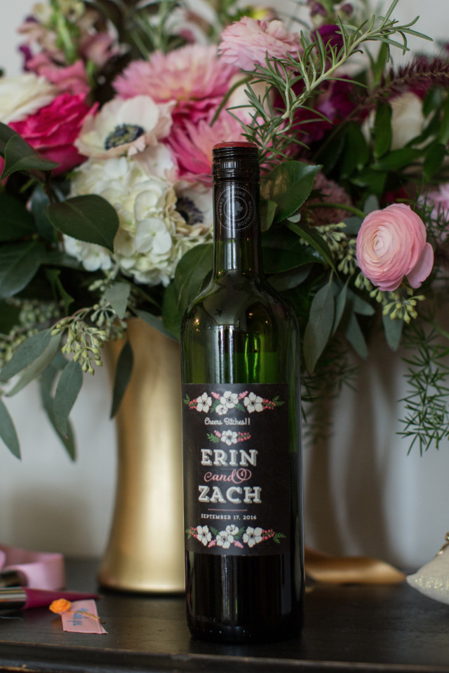 custom wedding wine bottle labels