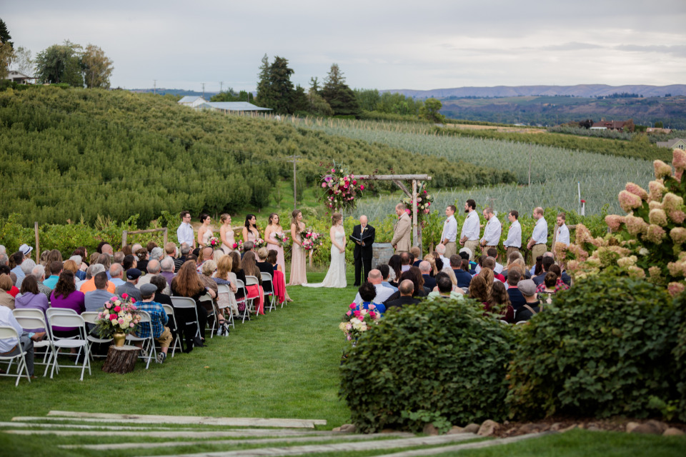 beautiful vineyard wedding ceremony venue