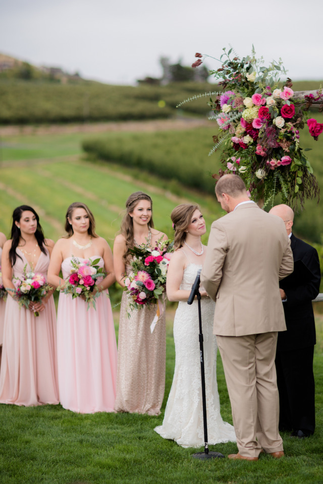 beautiful vineyard wedding ceremony