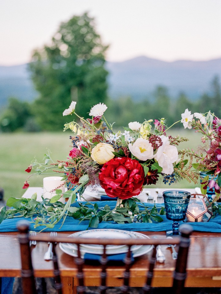 Gorgeous loose floral centerpiece