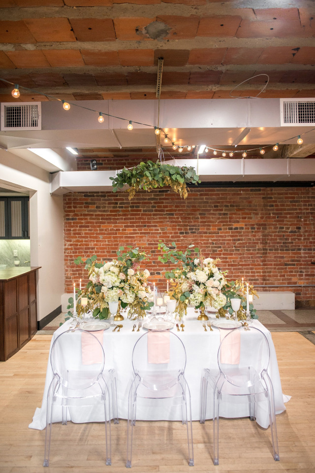 beautiful loft wedding reception ideas