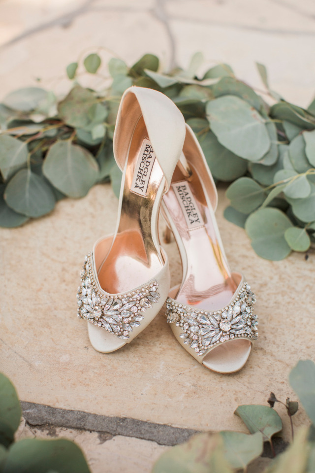 bejeweled badgley mischka wedding shoes