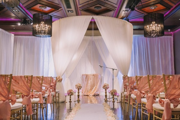 Get Ready To Celebrate With This Glam Blush And Gold Wedding