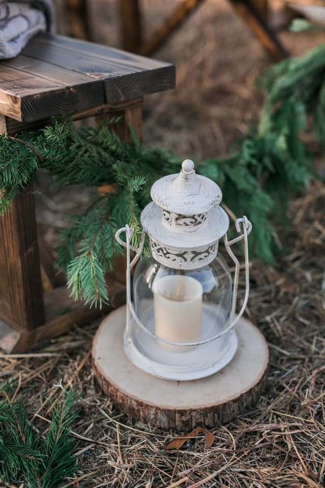 rustic lantern wedding aisle decor