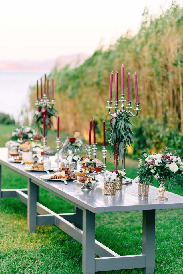 Stylish hors d'oeuvres table