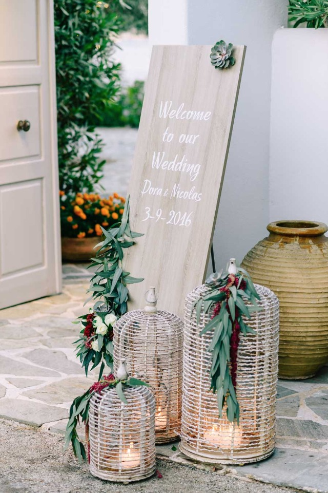 Beautiful wedding sign