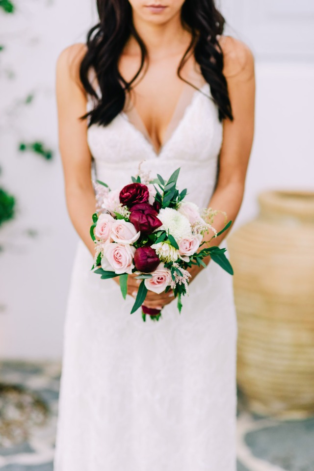 Blush and red bouquet