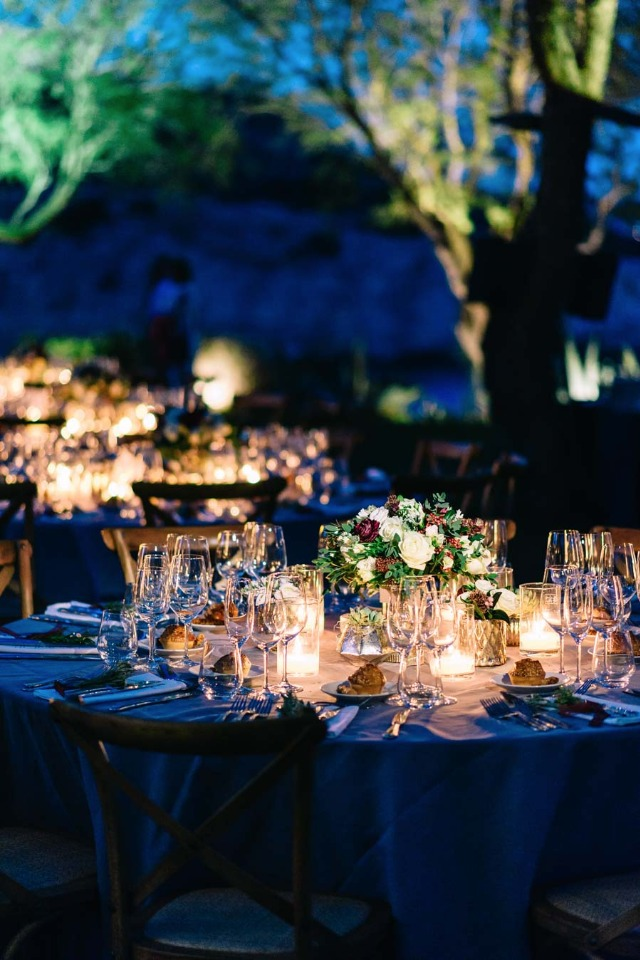 Elegant night time reception