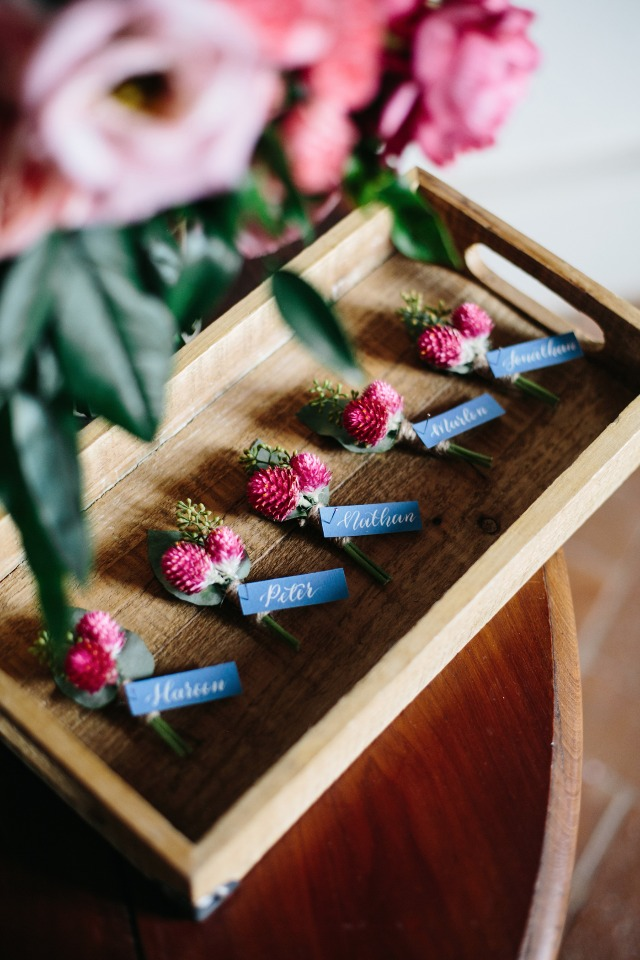 boutonnieres for all the fellas