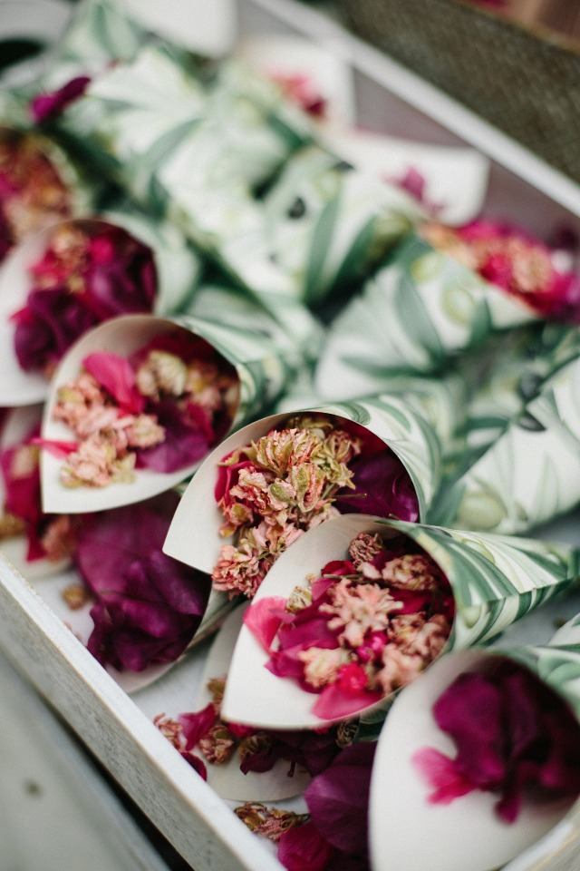 dried flower wedding confetti