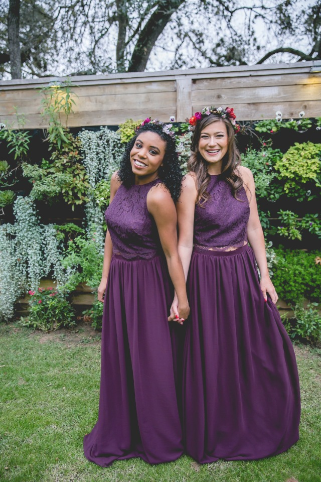 deep purple two piece separates from Revelry