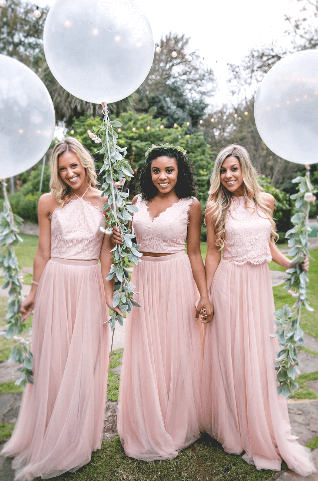 Separates bridesmaid dresses