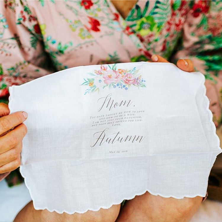the polka dotted bee wedding hanky