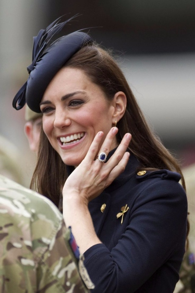 Princess Kate sporting her stunning ring