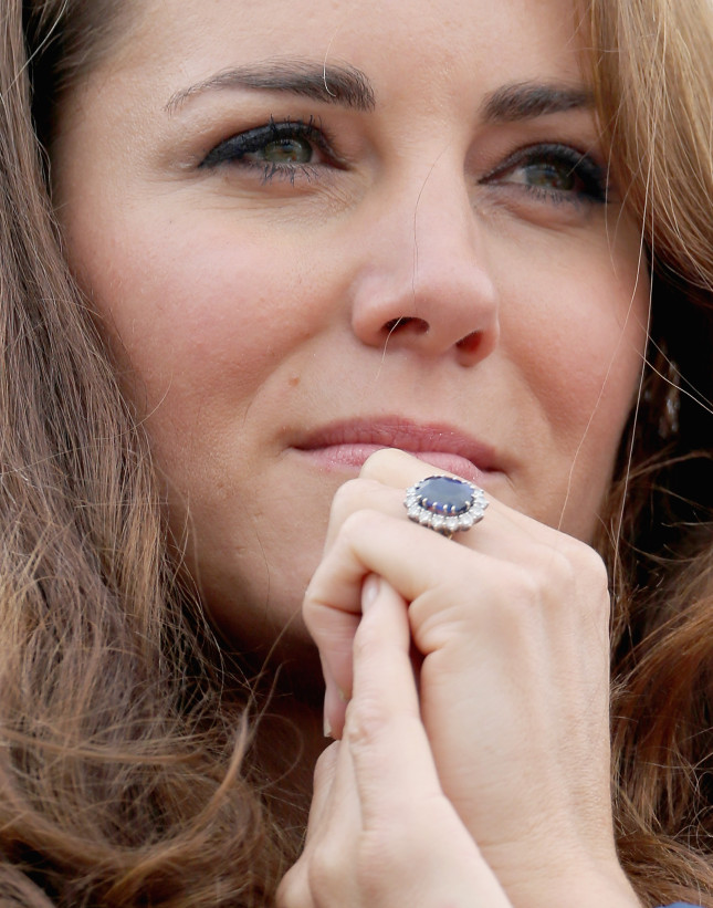 stunning ring on the finger of Princess Kate
