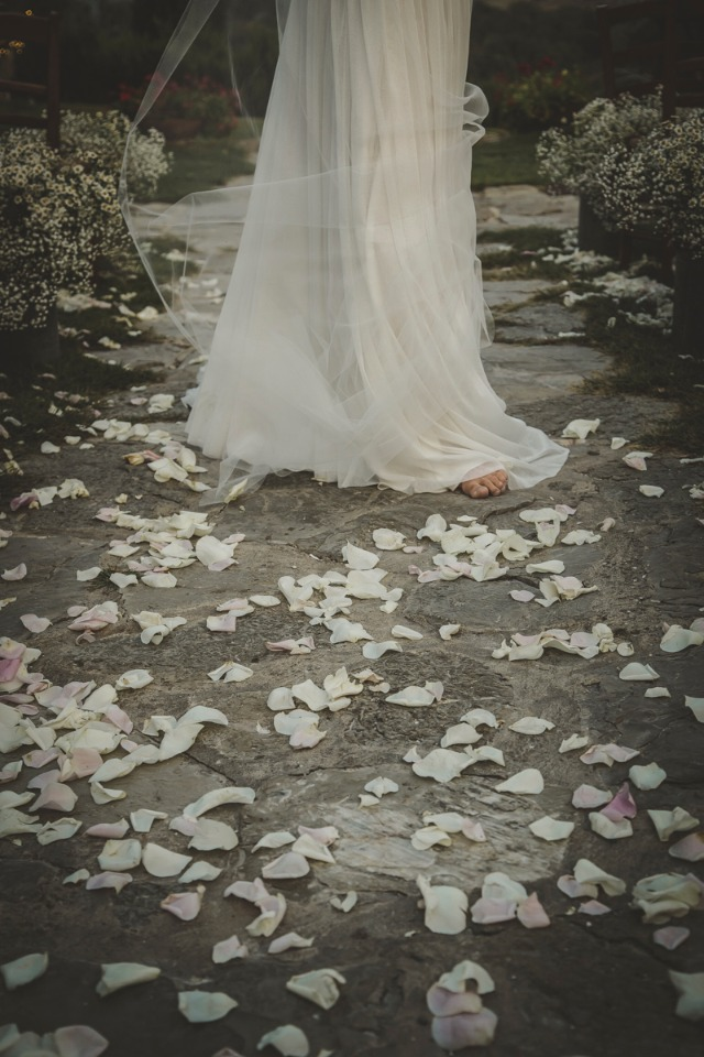 flower petals for your wedding aisle