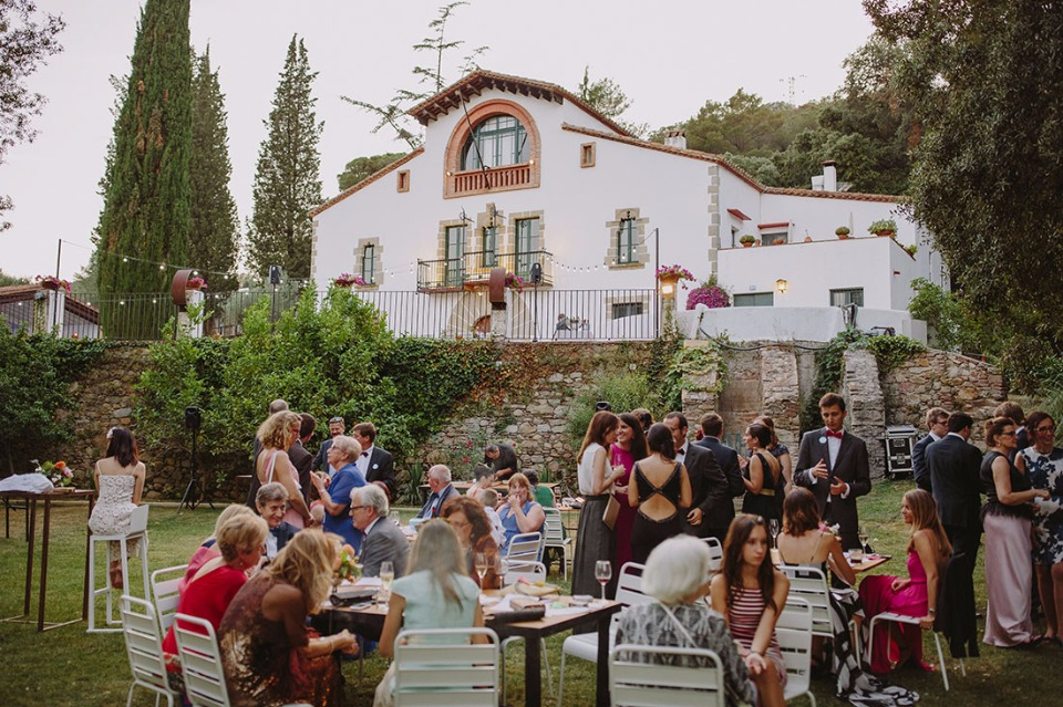 Elegant venue at the farmhouse in Catalunya, Spain