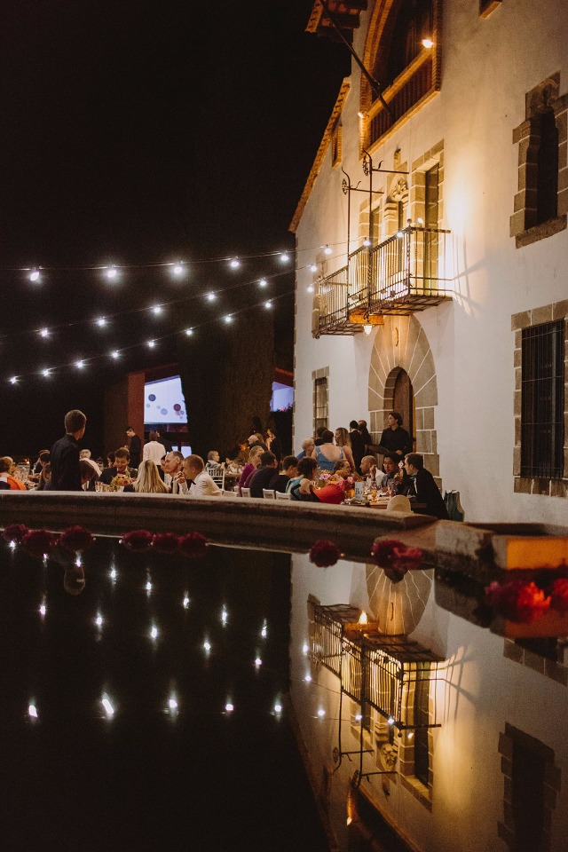 Sparkly outdoor reception