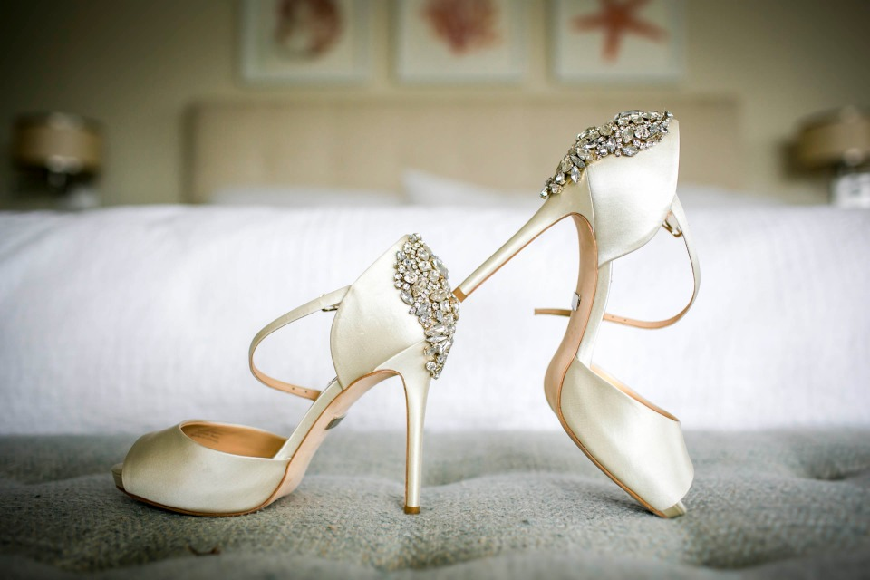 Sparkly heels for the bride-to-be
