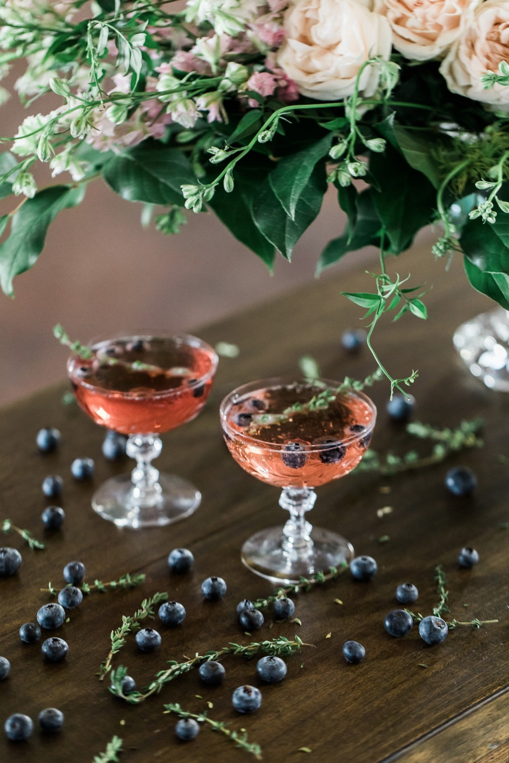 blueberry and thyme magic cocktail