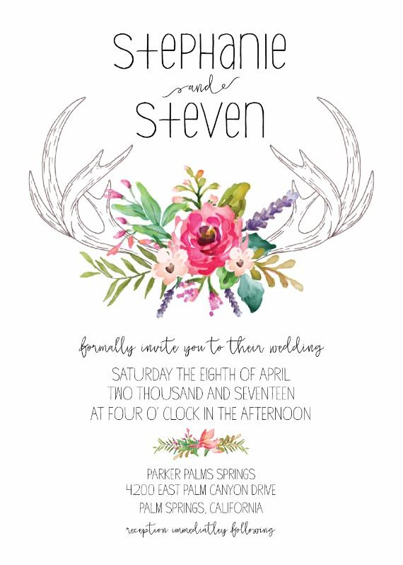 free custom antler invite