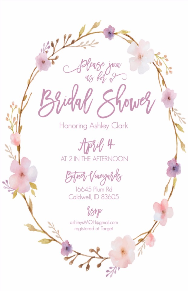 free custom floral wreath invite