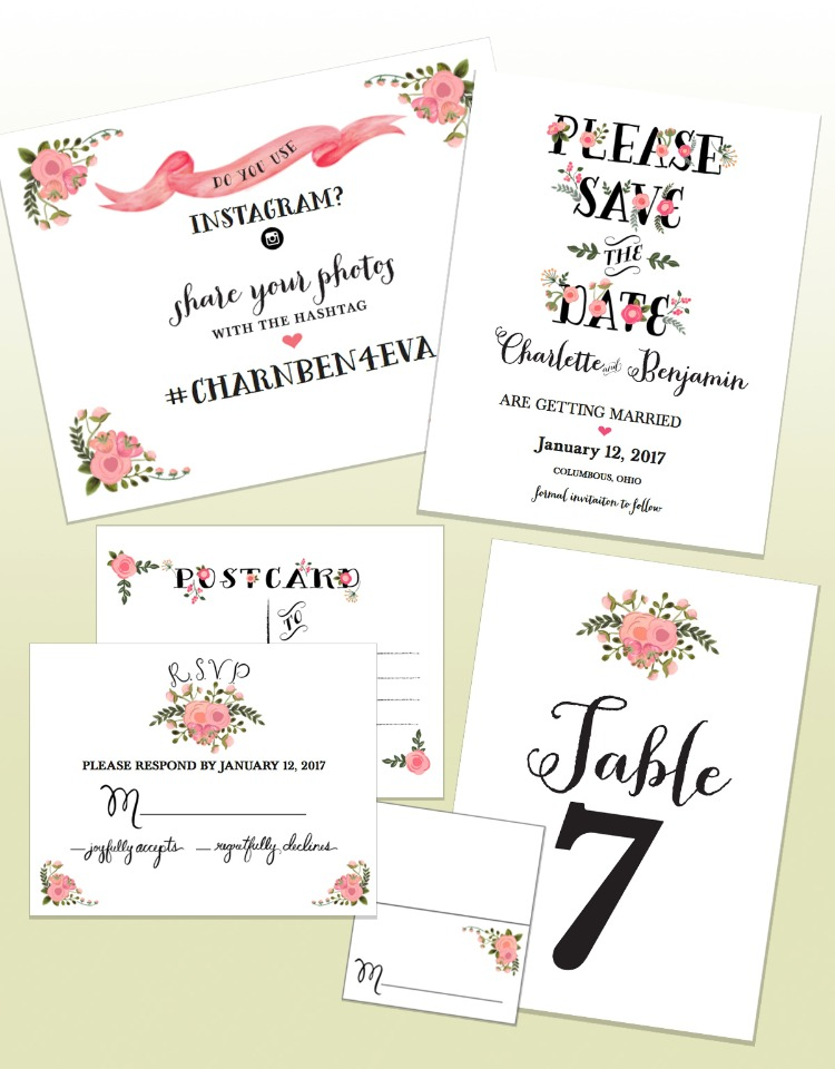 peach flowers custom free printables