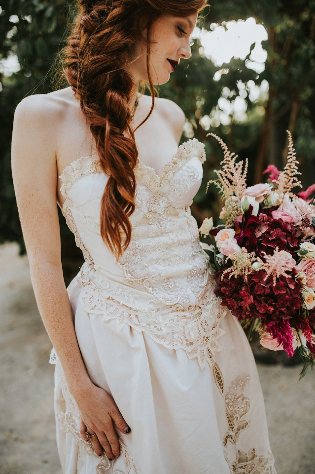lace and applique Marie Antoinette inspired dress