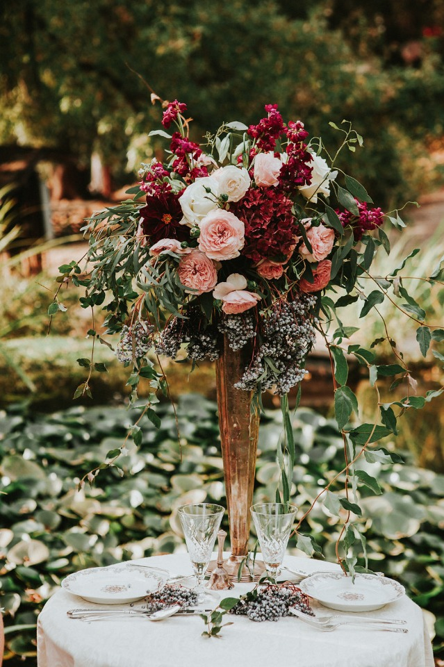 tall centerpiece idea