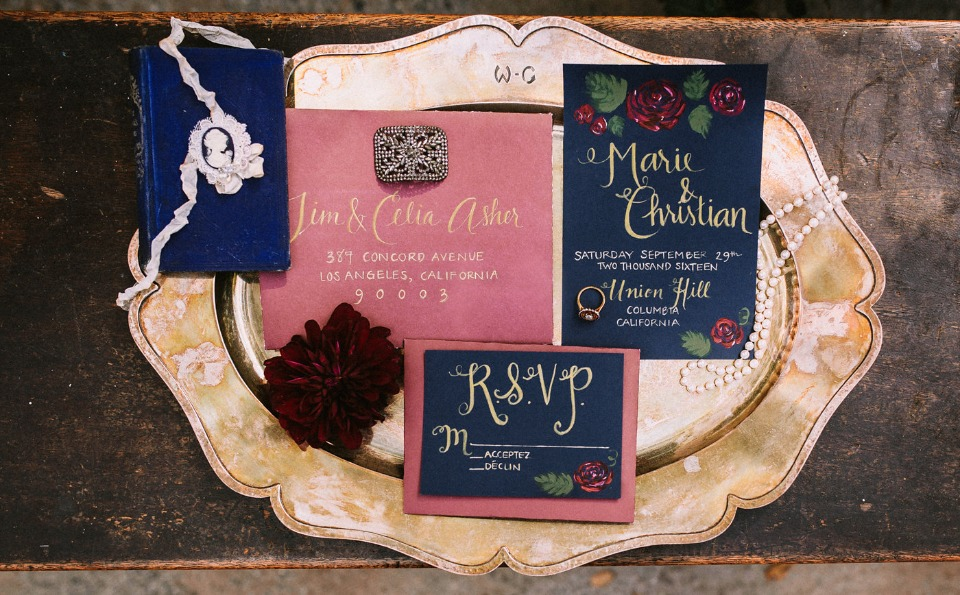 calligarphy wedding invitations
