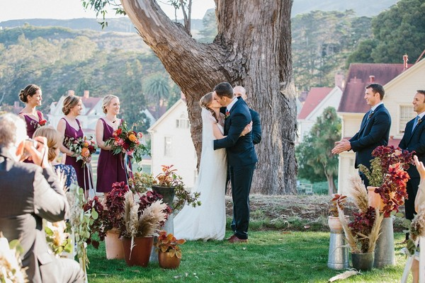 Our Heart Is In San Fransisco For This Scenic Fall Themed Wedding