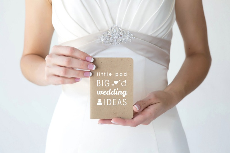 Little pad, big wedding ideas. This notepad is a wedding must have.