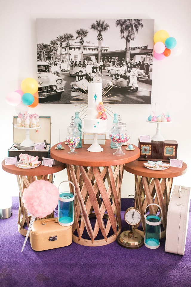 Retro desserts for your pin-up bridal shower