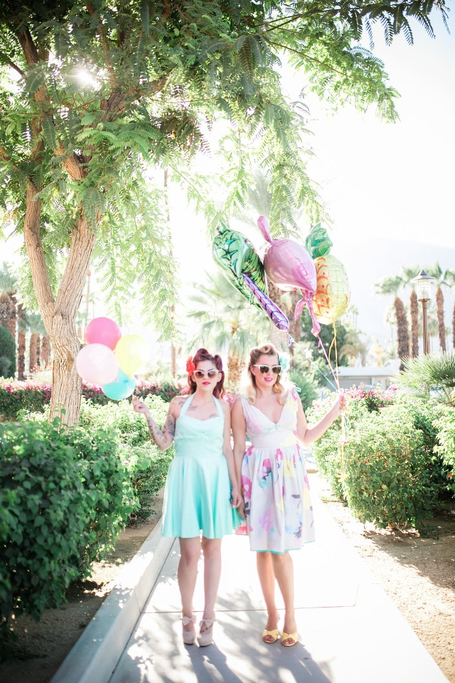 Retro bridal shower at The Saguaro in Palm Springs