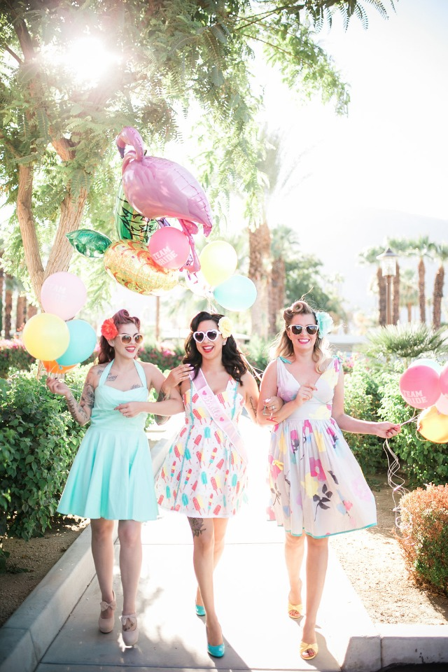 Oh so retro and chic pin-up bridal shower at The Saguaro in Palm Springs
