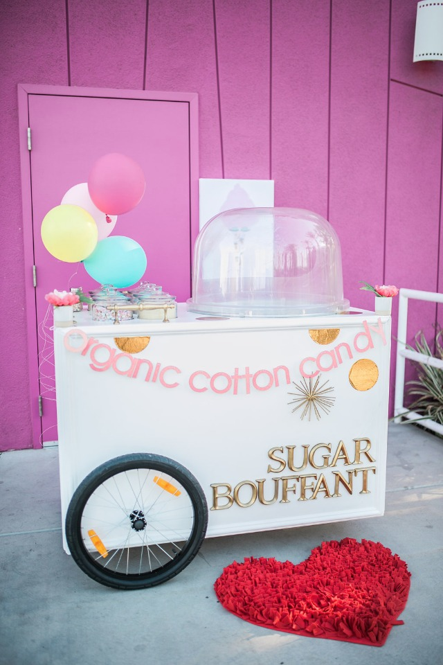 Organic cotton candy for your bridal shower