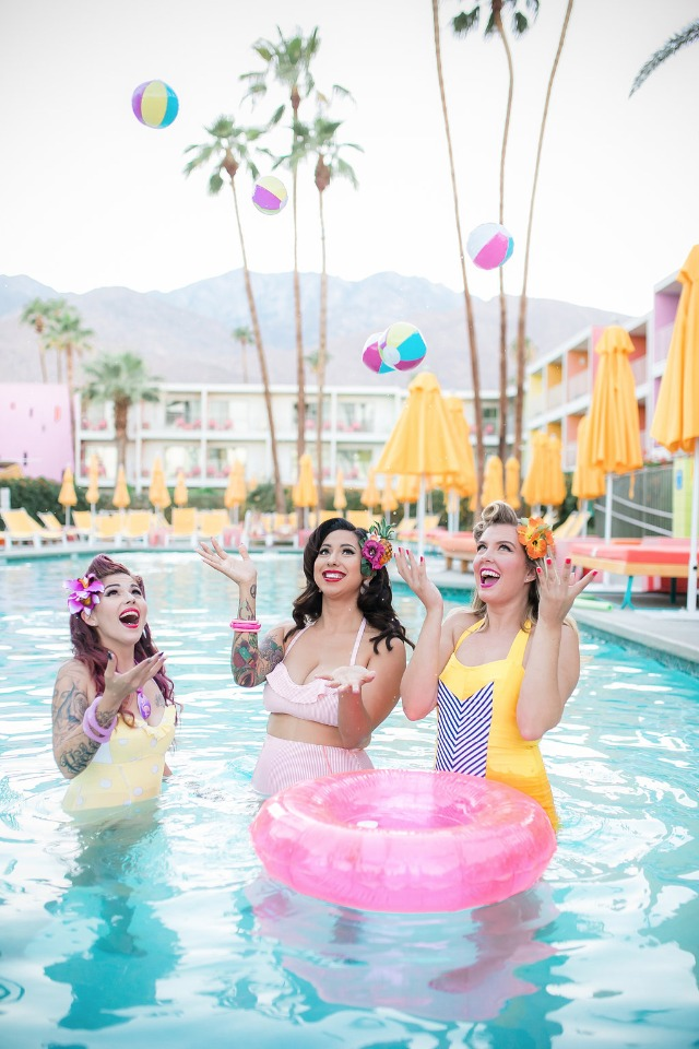 Pin-up bridal shower at The Saguaro in Palm Springs