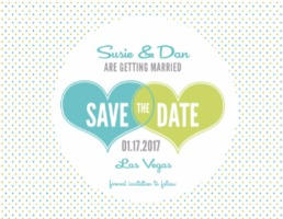 Hearts and Polka Dots Free Printable Save the Date Cards