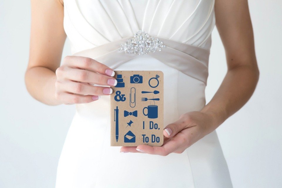 wedding notepad from hello bride
