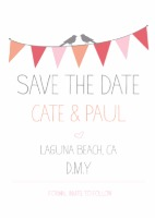 Bunting Free Printable Save the Date