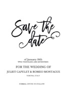 Romeo + Juliet Free Wedding Printable Invitatino Suite