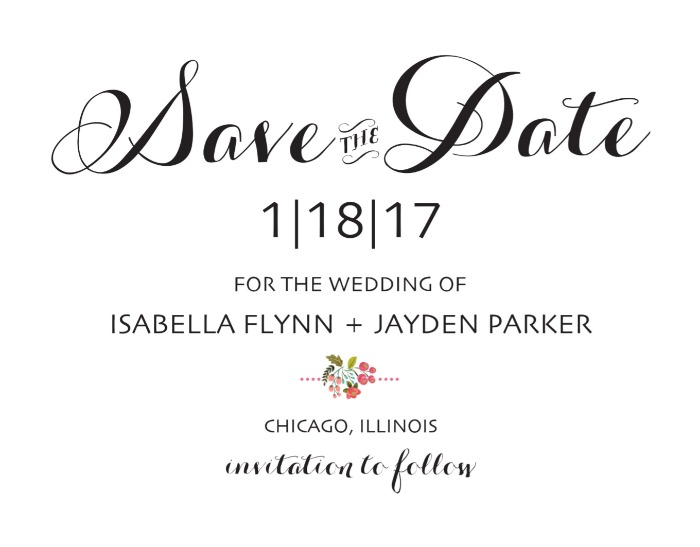 Print: Audrey Free Printable Wedding Save the Dates