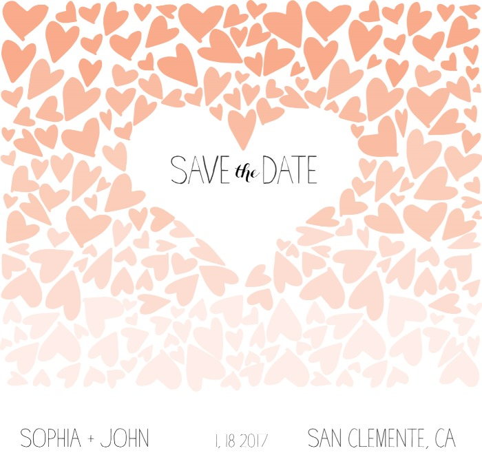 Print: Ombre Love Save the Date