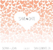 Ombre Love Free Printable Save the Date