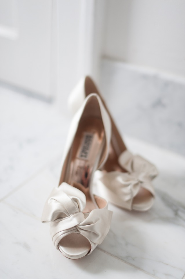 classic white wedding shoes
