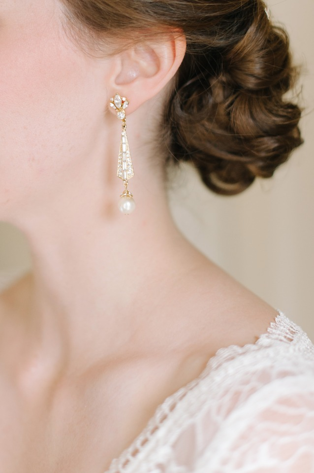 vintage inspired wedding earrings