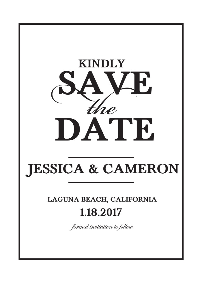 Print: Elegant Monogram Save the Date