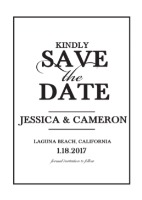 Elegant Monogram Free Printable Save the Date
