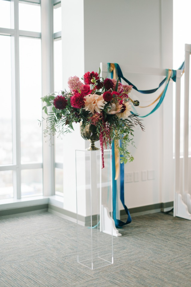 simple and clean wedding ceremony decor